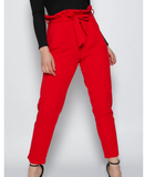Red Cigarette Pleated Trouser