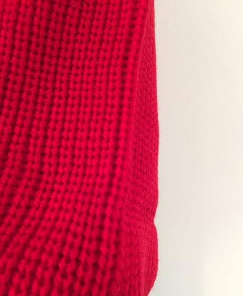 Red Jumper with Balloon Sleeves