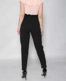 Black Cigarette Pleated Trouser