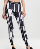 Urban Classics Black and White Leggings