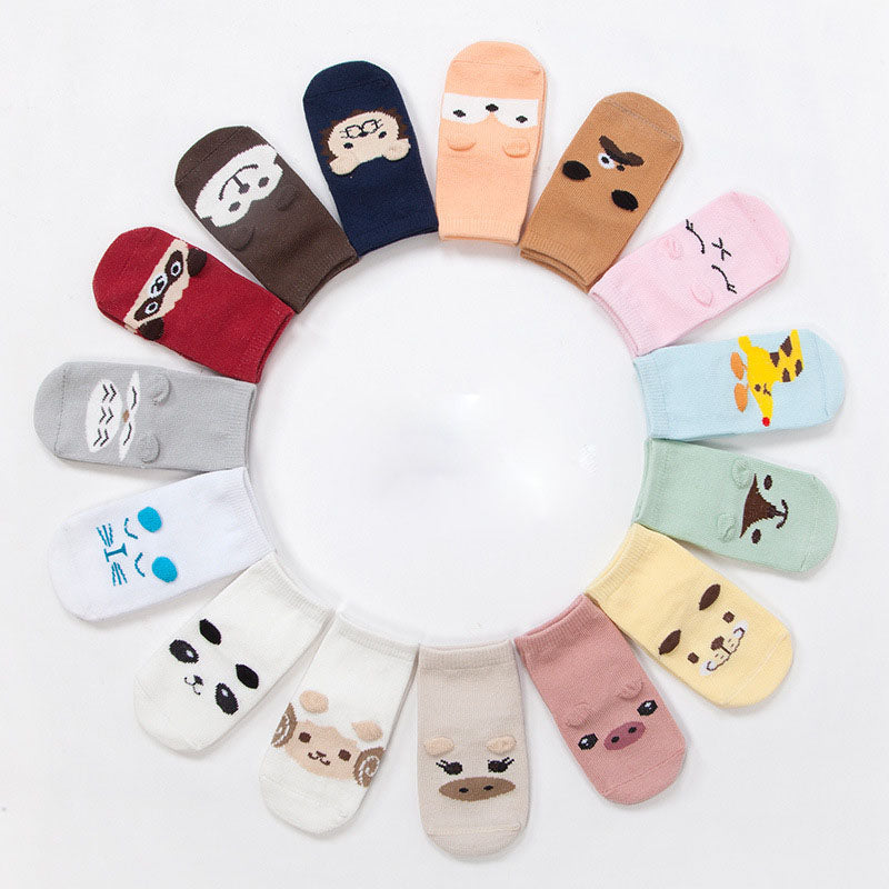 4-Design Pack Cute Anti-Slip Baby Socks - Cosymama