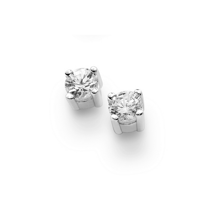 White Gold Square Earring 0.50ct