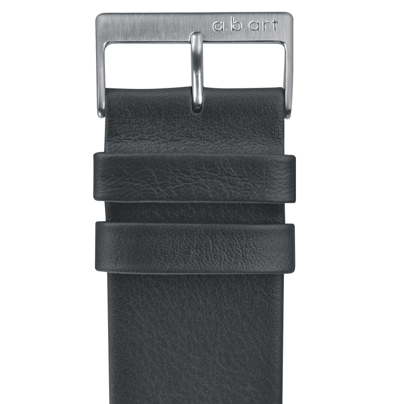 Leather strap grey 1.13 size S
