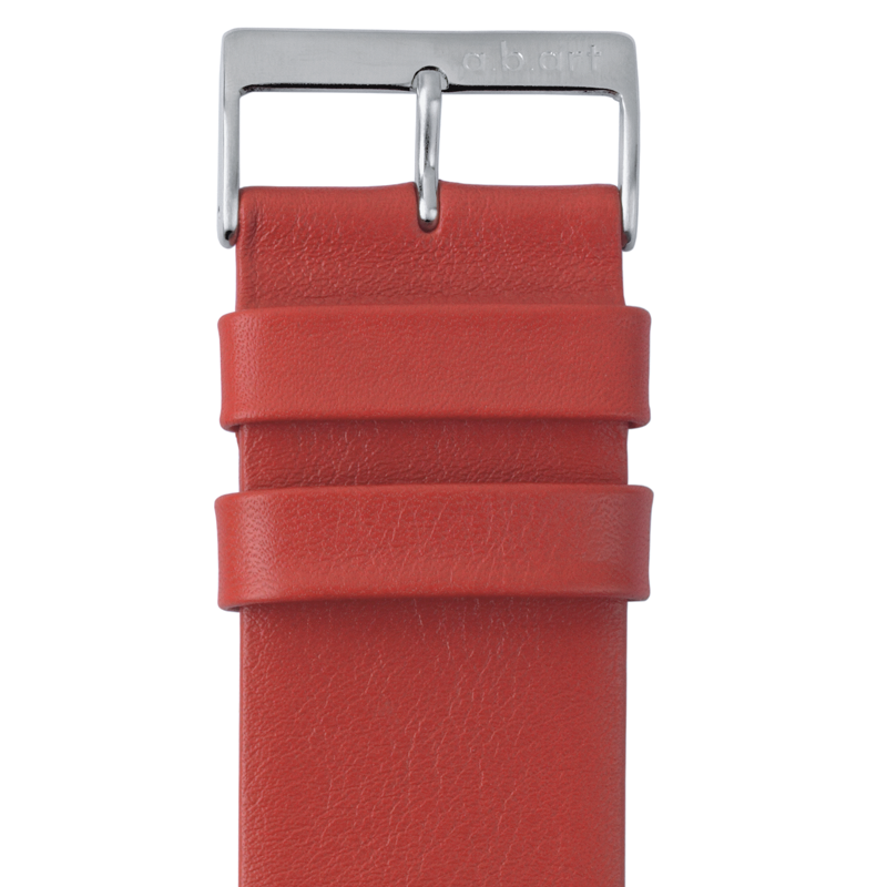 Leather strap red 1.7 size L