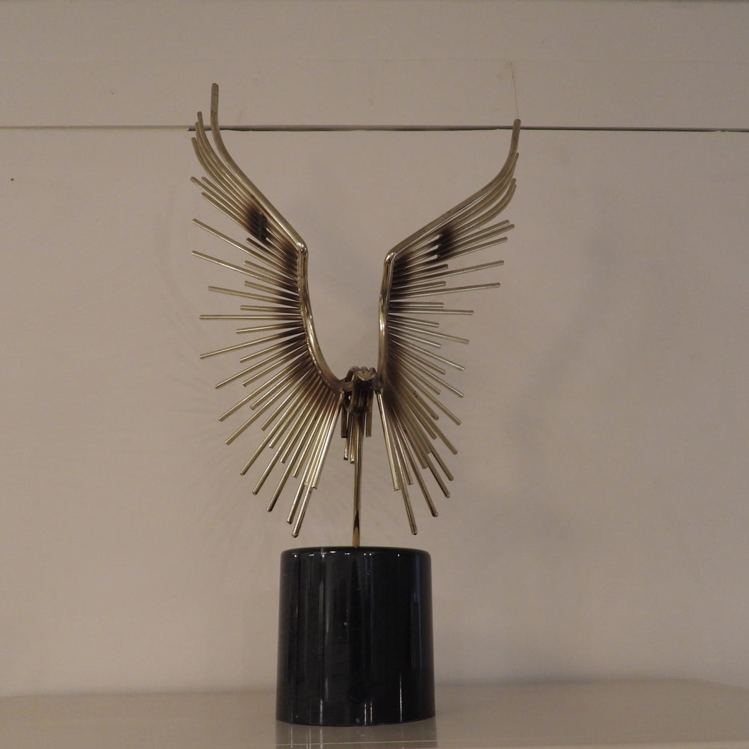 Abstract Welded Bird Sculpture