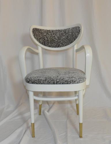 Set of White Lacquer Italian Chairs