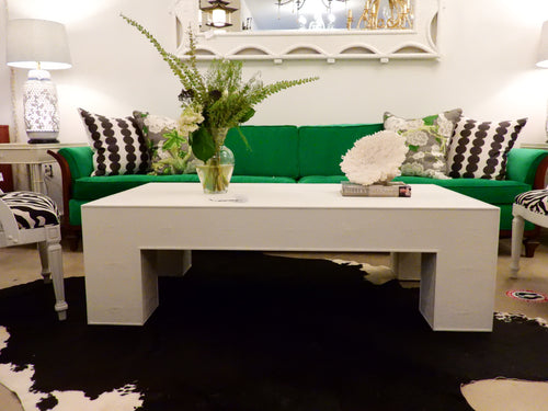Alabaster Shagreen Coffee Table