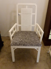 White Chinoiserie Dining Chairs