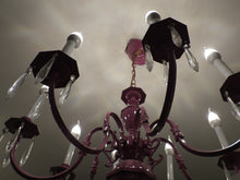 Radiant Orchid Brass Chandelier