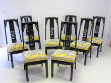 Asian-Inspired Thibaut Luzon Chairs, S/8