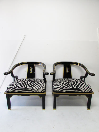 James Mont for Century Asian Armchairs, Pair