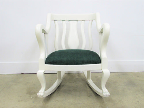 Antique Empire Revival Claw Foot Rocking Chair
