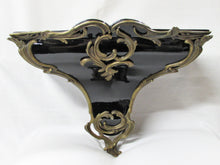 Black Lacquered Porcelain Wall Brackets With Bronze Ormolu Mounts