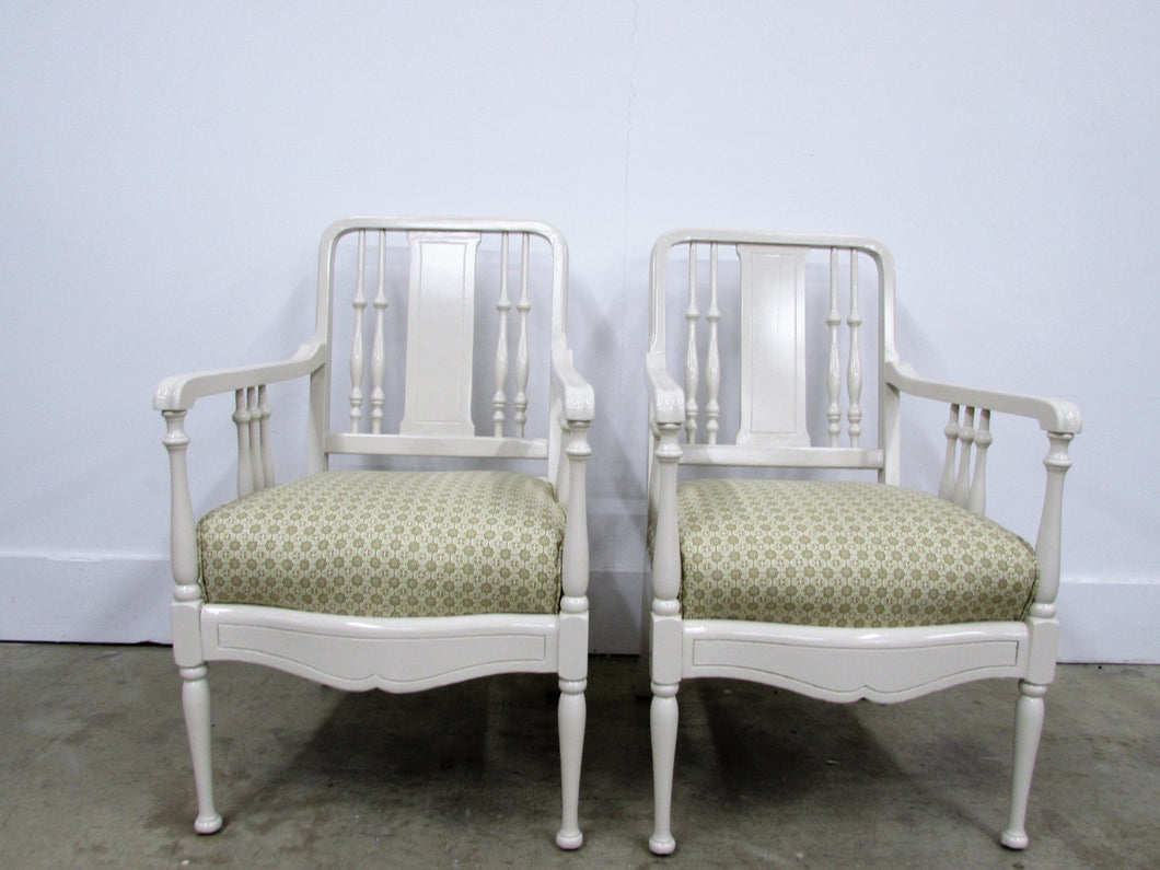 Pullman Davenport Lacquered Chairs, Pair