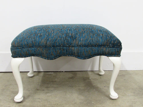 Upholstered & Lacquered Bench with Cabriolet Legs