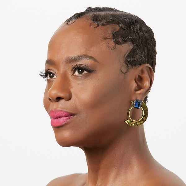 NUBIAN Queen Vintage Metal Statement Earring