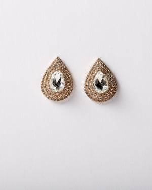 Golden Teardrop Stud Earring