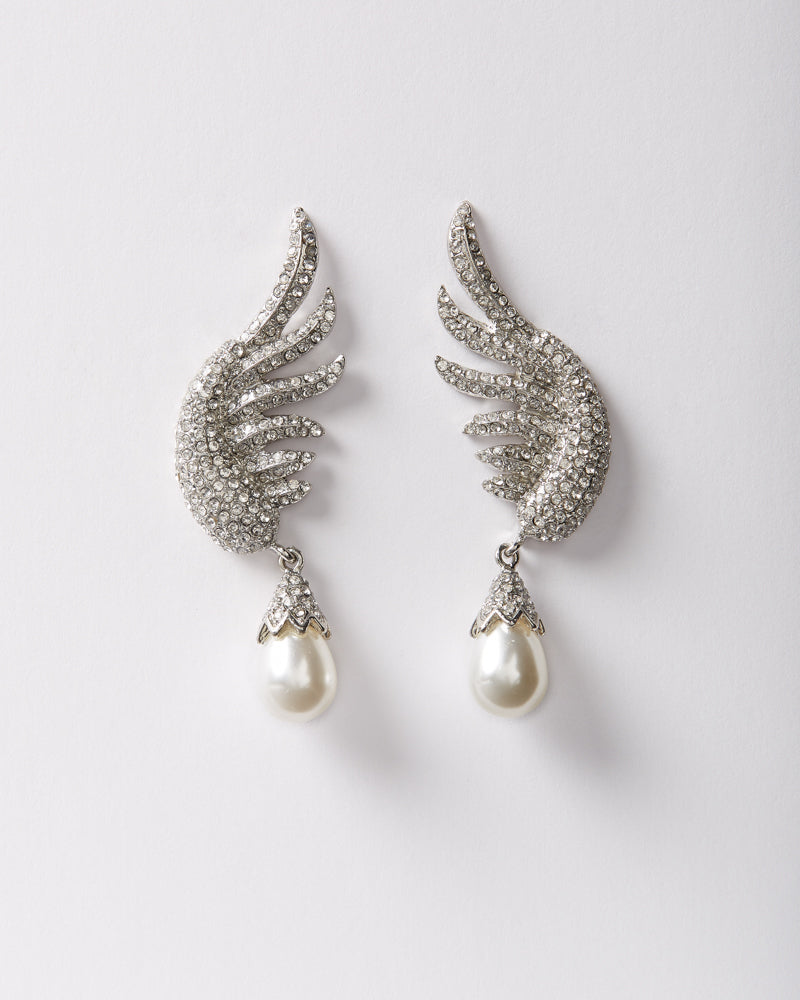 Angel at Heart Pearl Dangle Earring