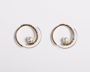 Spiraled in Love Hoop Earring