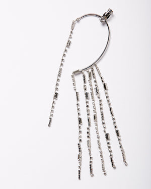 Numero Uno Rhinestone Ear Hanging Dangle Earring