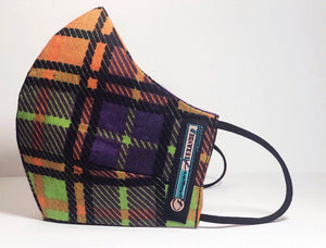 90's Plaid Face Mask