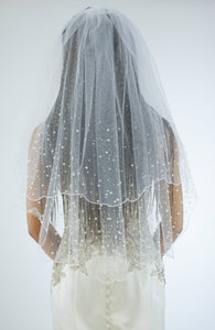 Stoned Double Layer Veil