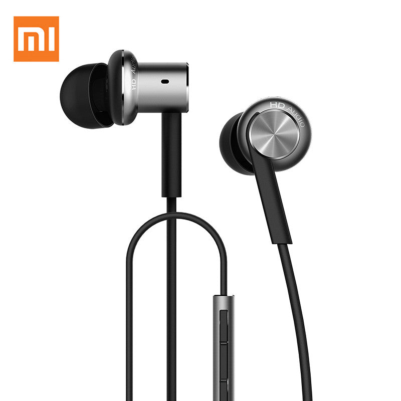 100% Original Xiaomi mi Hybrid Dual Drivers Earphone in-ear Wired Control Microphone Dynamic and two balanced-armature drivers