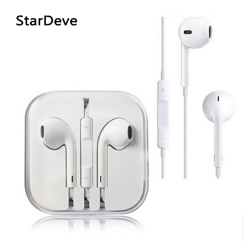 Original and Brand New 3.5mm headphone Earpod Earphone For iPhone 5 5S 5C 6S 6SPlus iphone6 apple headset Free Shipping