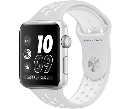 Apple Watch Nike+ 42mm Series 2 - Silver (Pure Platinum White Nike Sport Band)