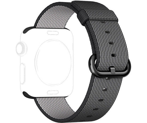 Quai woven nylon Apple Watch 38mm - Black
