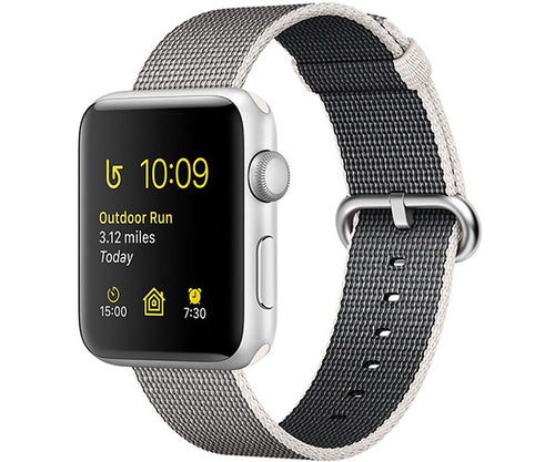 Apple Watch Sport 42mm Series 2 - Silver (Pearl Woven Nylon)