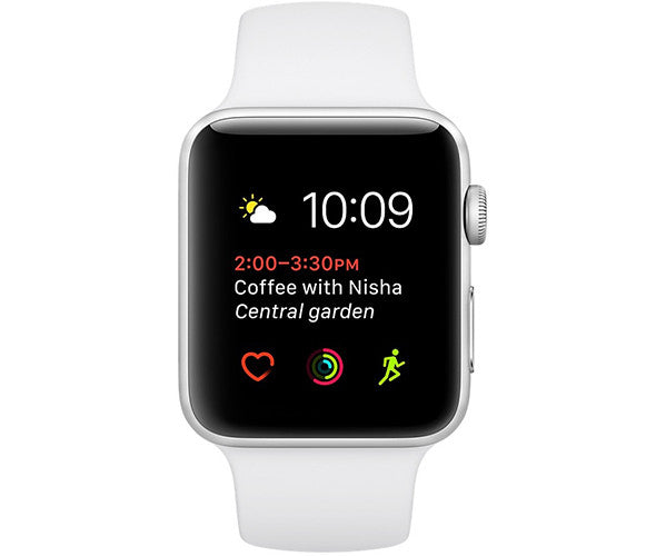 Apple Watch Sport 42mm Series 2 - Silver (White Sport Band)
