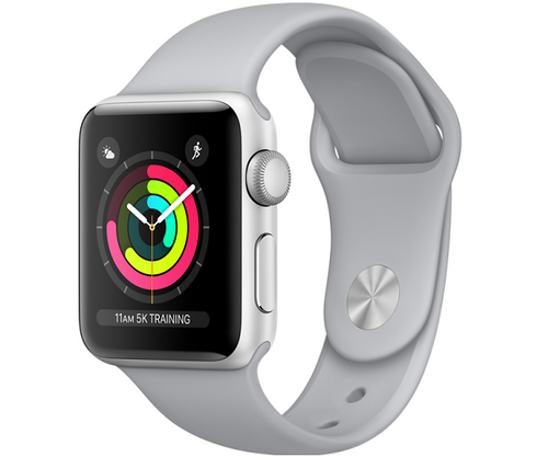 Apple Watch Sport Series 3 GPS 38mm Silver Aluminum Case (Fog Sport Band)