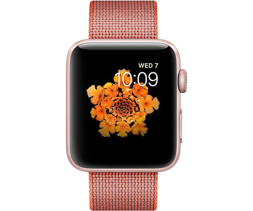 Apple Watch Sport 42mm Series 2 - Rose Gold (Space Orange Woven Nylon)