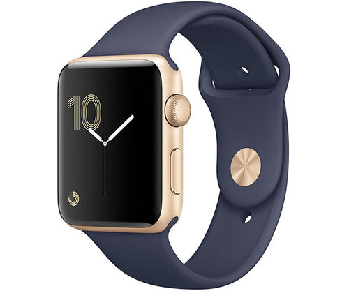 Apple Watch Sport 42mm Series 2 - Gold (Midnight Blue Sport Band)