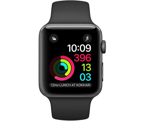 Apple Watch Sport 38mm Series 2 - Grey (Black Sport Band)