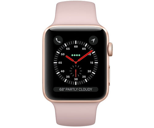 Apple Watch Sport Series 3 GPS 42mm Gold Aluminum Case (Pink Sport Band)