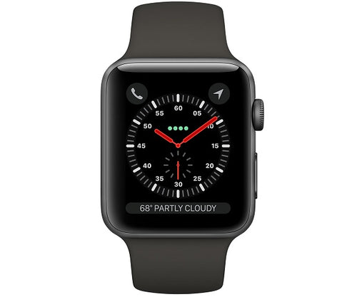 Apple Watch Sport Series 3 GPS 42mm Space Gray Aluminum Case (Gray Sport Band)