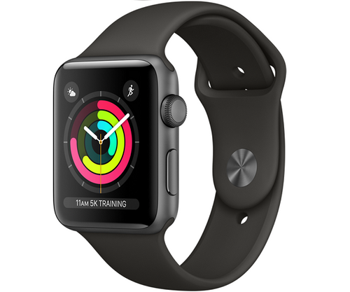 Apple Watch Sport Series 3 GPS 38mm Space Gray Aluminum Case (Gray Sport Band)