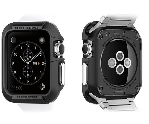 Case bảo vệ Apple Watch SGP Rugged Armor (38mm) - BLACK