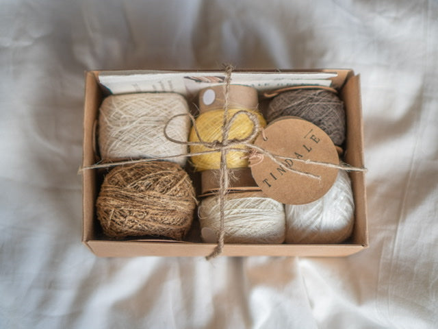 Wild Tussar Silk, Mulberry Silk & Cotton -Sample Box #3