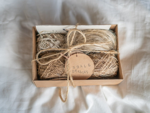 Wild Tussar Silk & Jute -Sample Box #1