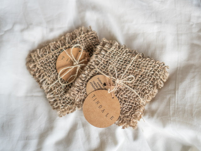 Hand Woven Jute coasters -set of 2