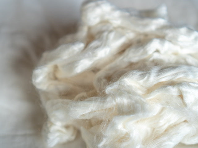 White Eri 'Silk Tops' - Raw Fibre