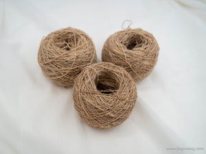Thick Tussar Silk Yarn - Light Ball