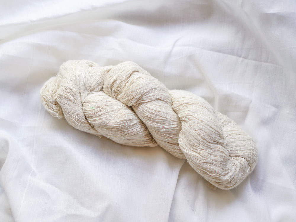 Fine Mulberry Silk Yarn Hank 'Noil'