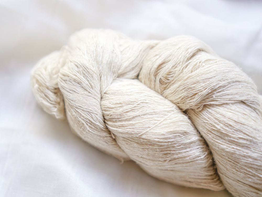Mulberry Silk Yarn Hank 'Noil'  (Matt) - Fine
