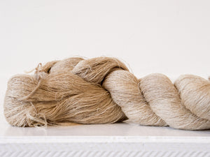 Fine Tussar Silk Yarn- light brown-Yarn-Tindale Designs-Tindale Designs