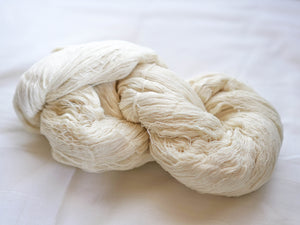 Mulberry and Cotton Spun Yarn Hank