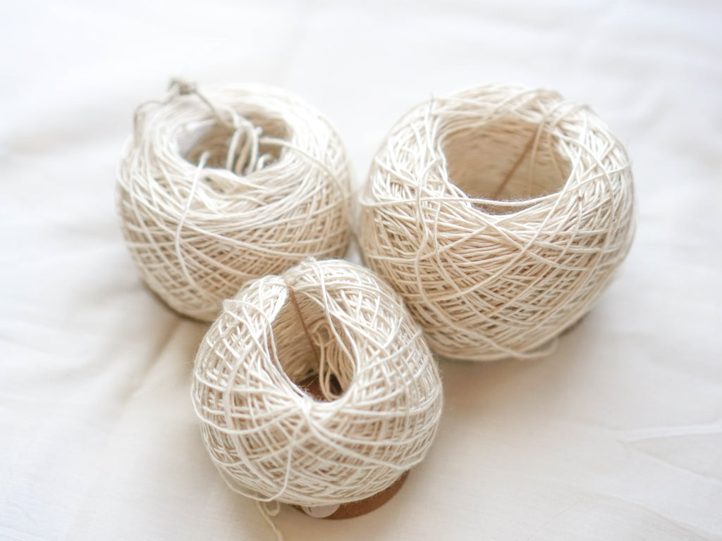 Shiny Thick Eri Silk Yarn Ball